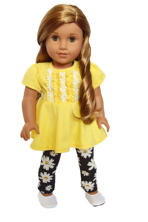 My Brittany's Daisy Flower Leggings Set for American Girl Dolls 18 Inch Doll Clothes