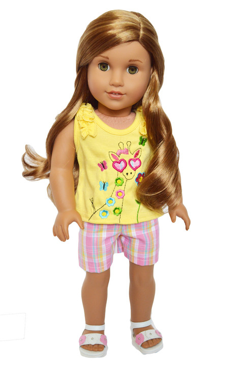My Brittany's  Giraffe Shorts Set for American Girl Dolls- 18 Inch Doll Clothes