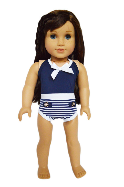My Brittany's Navy Swimsuit for American Girl Dolls