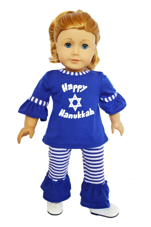 My Brittany's Hanukkah Outfit for American Girl Dolls- 18 Inch Doll Clothes