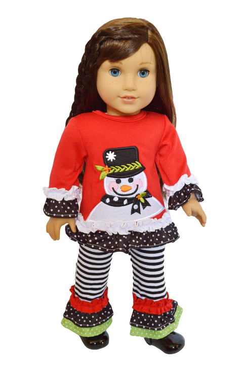 My Brittany's Snowman Outfit for American Girl Dolls- 18 Inch Doll Clothes