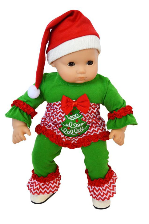 "My Brittany's ""Oh Christmas Tree' Lounge Set for .Bitty Baby Dolls- 15 Inch Doll Clothes- Sold Out"