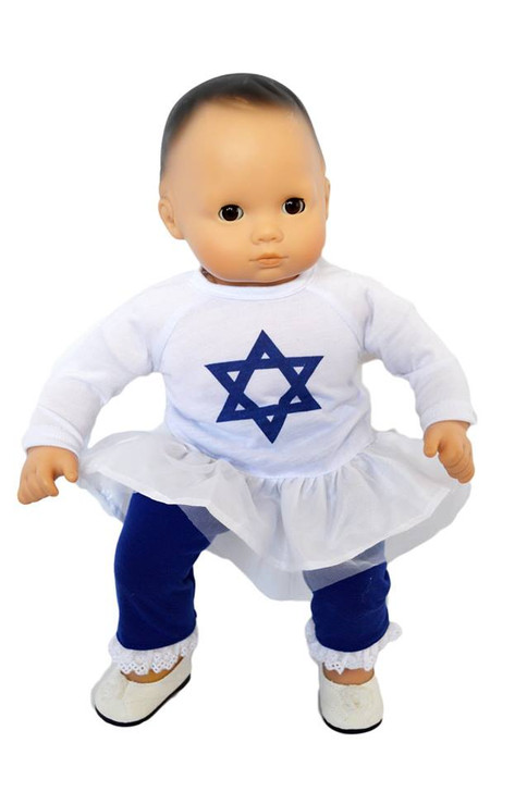 My Brittany's Hanukkah Star of David Outfit for Bitty Baby Doll-15 Inch Doll Clothes