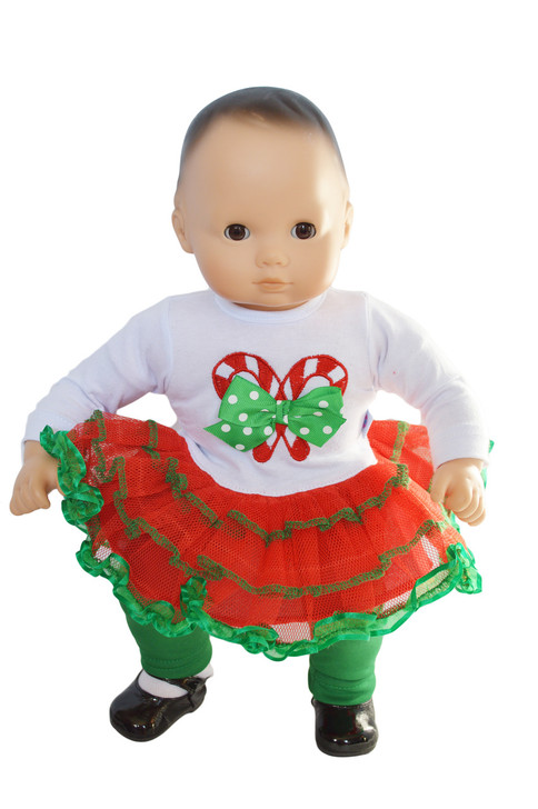 My Brittany's Candy Cane Lane Outfit for Bitty Baby and Bitty Twin Dolls- 15 Inch Doll Clothes- Sold Out