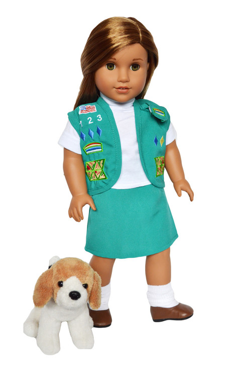Beagle Puppy Dog  for American Girl Dolls, Our Generation Dolls and My Life as Dolls