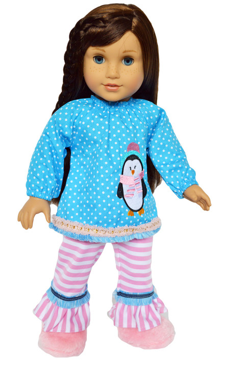 My Brittany's New Years Dotted Penguin for American Girl Dolls