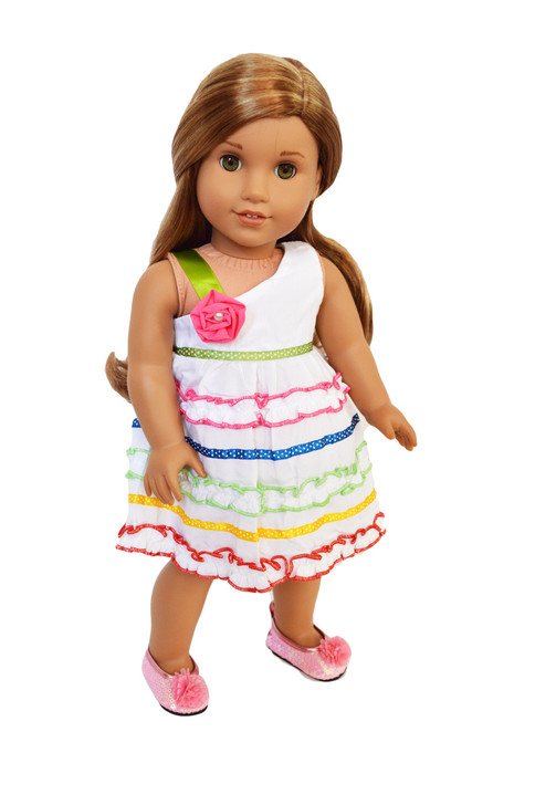 Garden Fiesta Dress Fits  American Girl Dolls, Our Generation Dolls and My Life as Dolls