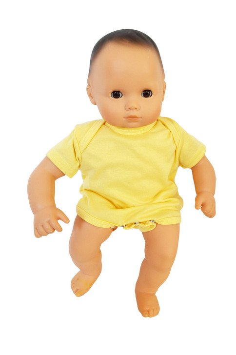 Yellow Baby Romper Fits  Bitty Baby Dolls- 15 Inch Baby Doll Clothes