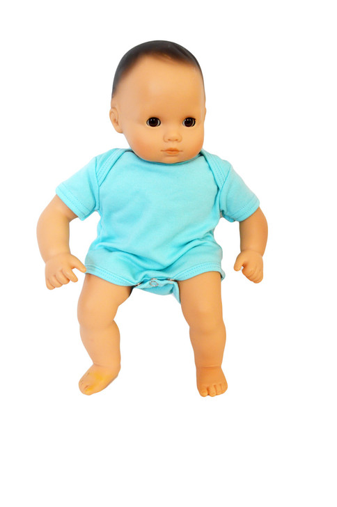 Blue Baby Romper Fits Bitty Baby Dolls- 15 Inch Baby Doll Clothes