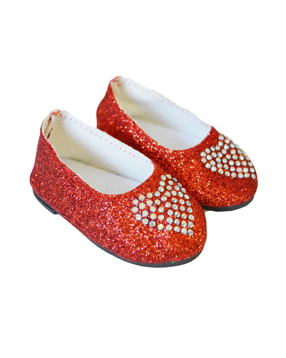 My Brittany's Red Heart Shoes Compatible with American Girl Dolls, Our Generation Dolls and My Life as Dolls