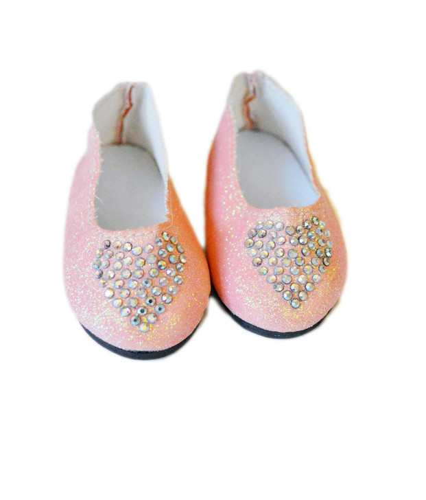My Brittany's Pink Heart Shoes  Fits 14 Inch Wellie Wisher Dolls and Glitter Girl Dolls