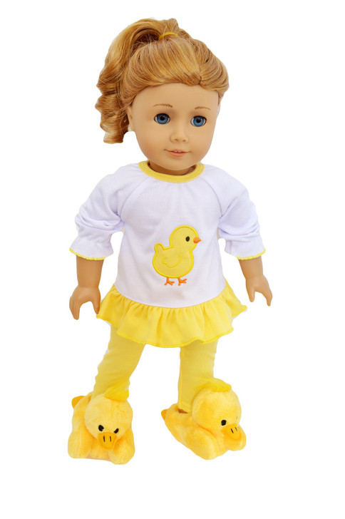 My Brittany's Yellow Spring Chick Pj Lounge Set for American Girl Dolls