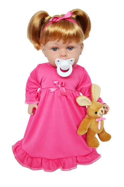 My Brittany's Pink Nightgown with Bunny for Bitty Baby Dolls- 15 Inch Doll Clothes