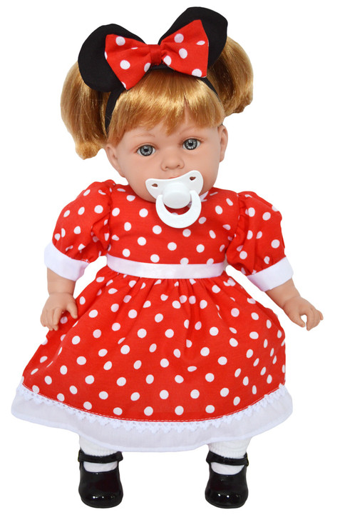 My Brittany's Red Dot Dress for Bitty Baby Dolls