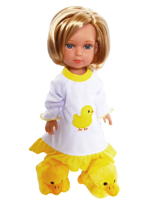 Spring Chick Nightgown for Wellie Wisher Dolls, Hearts for Hearts Dolls and Glitter Girl Dolls