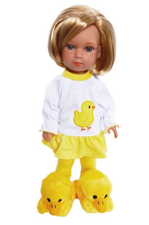 Spring Chick Pjs for Wellie Wisher Dolls, Glitter Girl Dolls and Hearts for Hearts Dolls