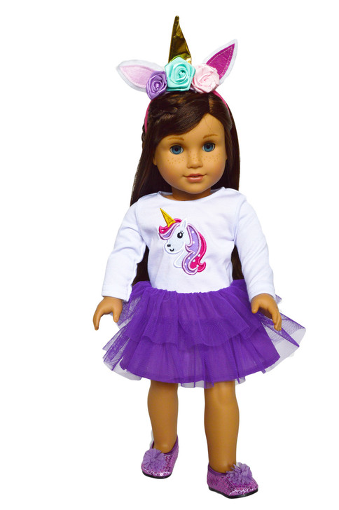 My Brittany's Purple Unicorn Outfit for American Girl Dolls