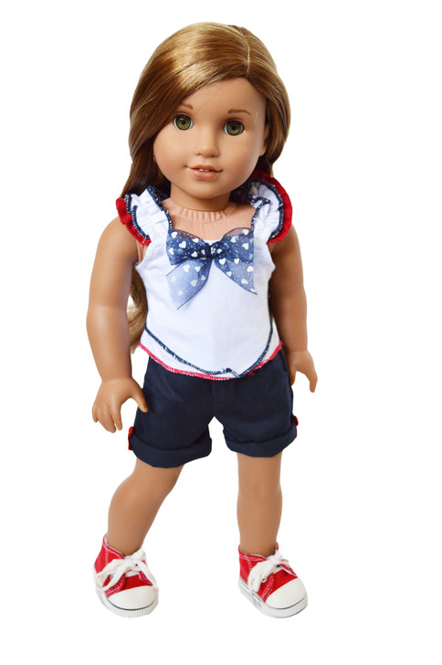 "My Brittany's ""A Day at the Parade""  Outfit  for American Girl Dolls/My Life as Dolls/ Our Generation Dolls"