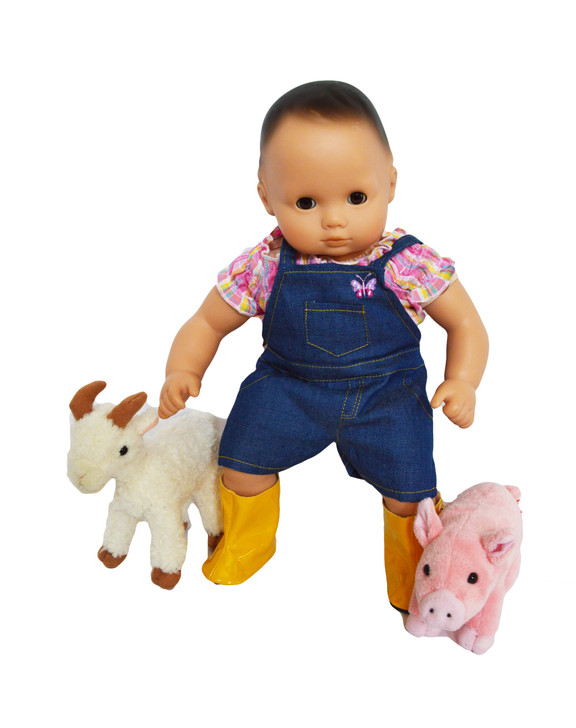 On the Farm Outfit for Bitty Baby Dolls- 15 Inch Doll Clothes