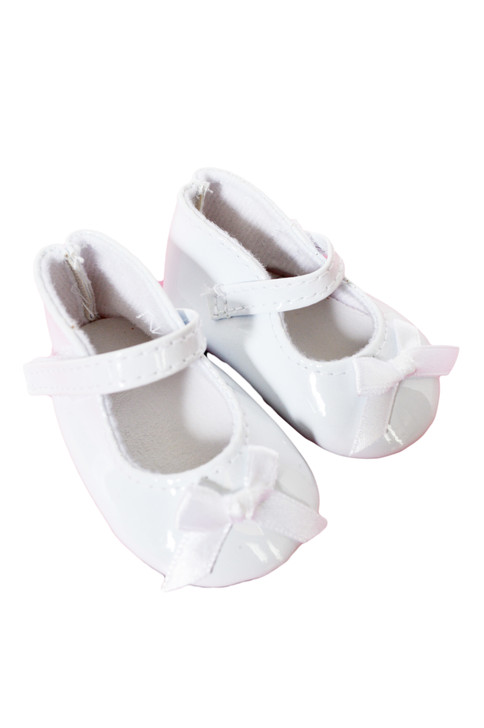 My Brittany's White Patent Bow Shoes for American Girl Dolls, Our Generation Dolls and My Life as Dolls- 18 Inch Doll Shoes