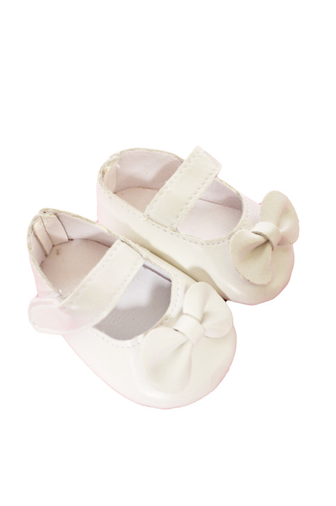 My Brittany's Off White Matte Bow Mary Janes Fits American Girl Dolls, My Life as Dolls, Our Generation Dolls- 18 Inch Doll Shoes