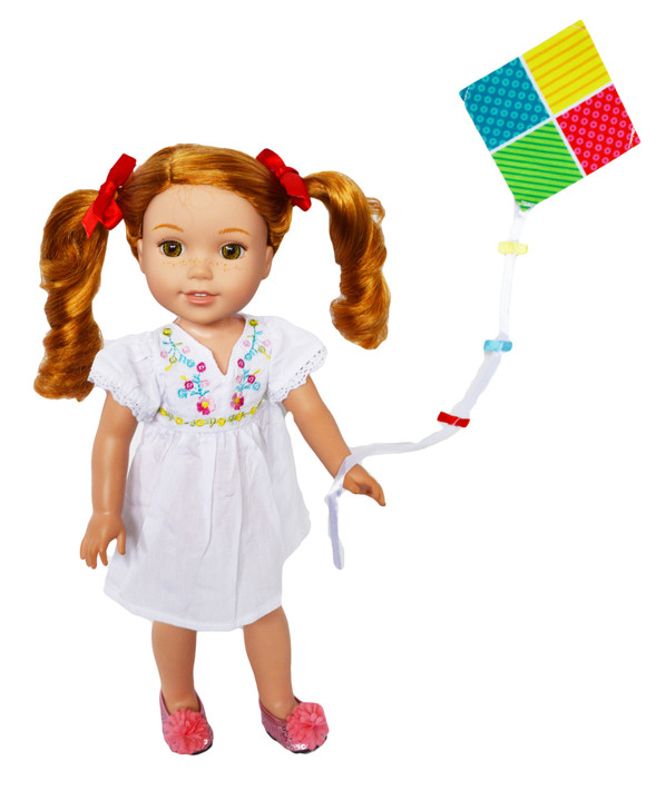 My Brittany's Kite Flying Outfit Fits Wellie Wisher Dolls