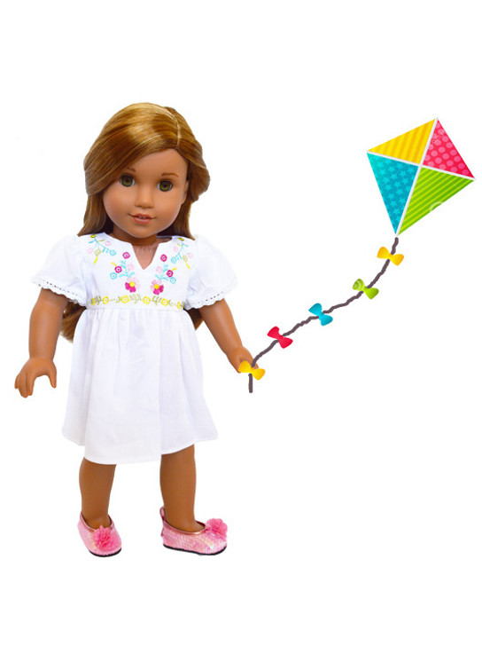 My Brittany's Kite Flying Outfit for American Girl Dolls, My Life as Dolls and Our Generation Dolls- 18 Inch Doll Clothes