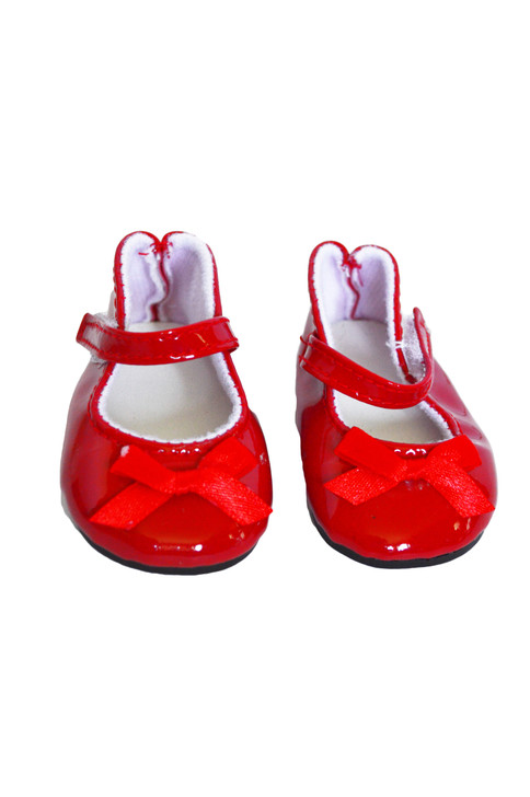 Red Bow Mary Janes for American Girl Dolls and Bitty Baby Dolls