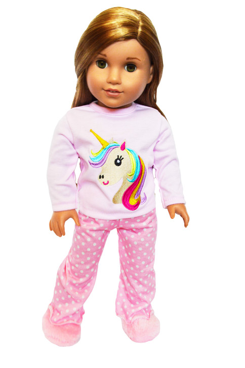 My Brittany's Pink Unicorn Pjs for American Girl Dolls, Our Generation Dolls and My Life as Dolls