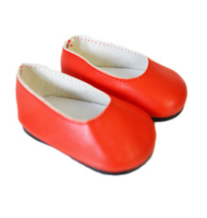 Red Matte Flats for American Girl Dolls and Bitty Baby Dolls