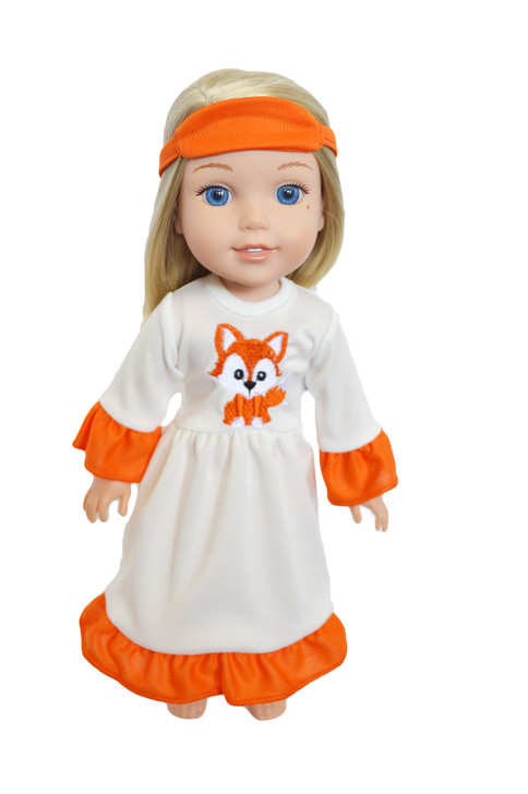 Autumn Fox Nightgown for Wellie Wisher Dolls
