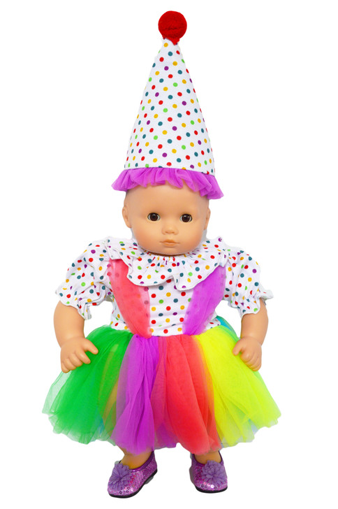 Clowning Around Outfit for Bitty Baby Dolls