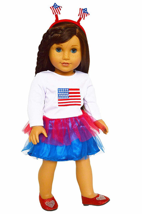Patriotic Outfit for American Girl Dolls, Our Generation Dolls and My Life as Dolls
