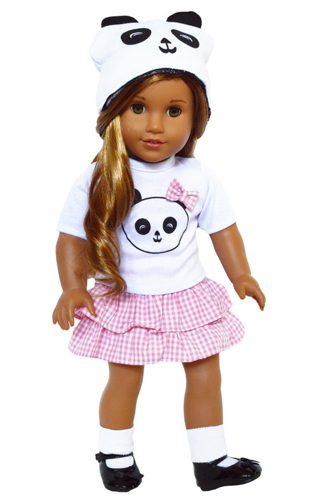 Panda Outfit for American Girl Dolls, Our Generation Dolls and My Life as Dolls- 18 Inch Doll Clothes