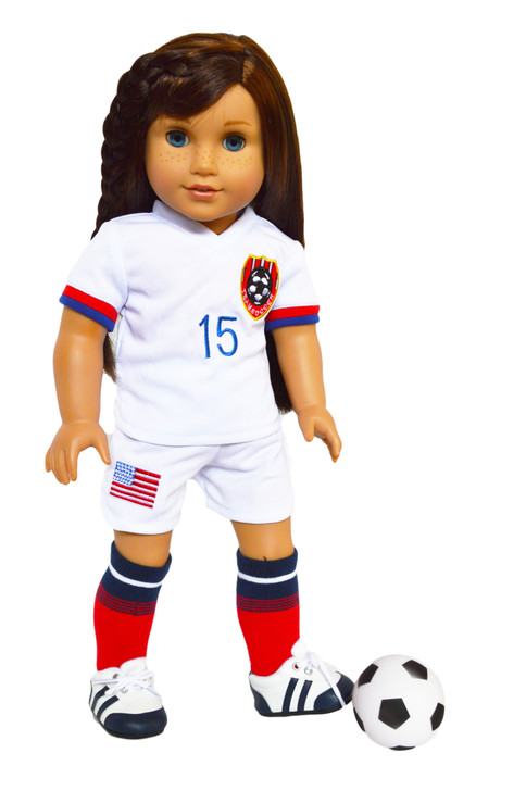 My Brittany's All American Soccer Player Outfit for American Girl Dolls, Our Generation Dolls and My Life as Dolls