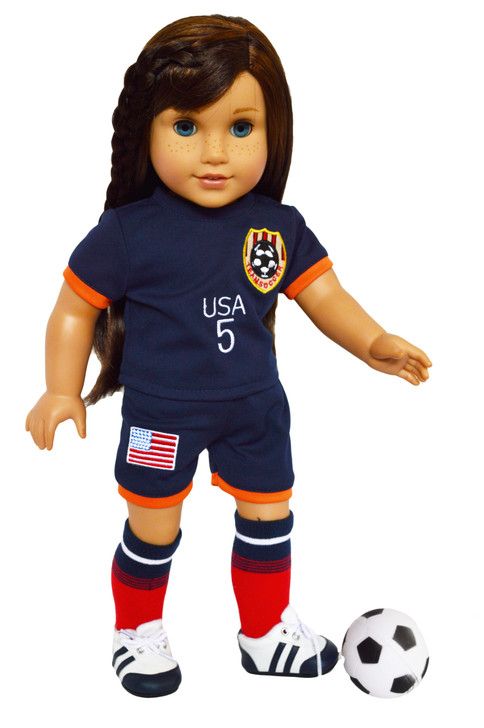 My Brittany's USA Championship Soccer Outfit for American Girl Dolls- Coming Soon Pre-Order Today