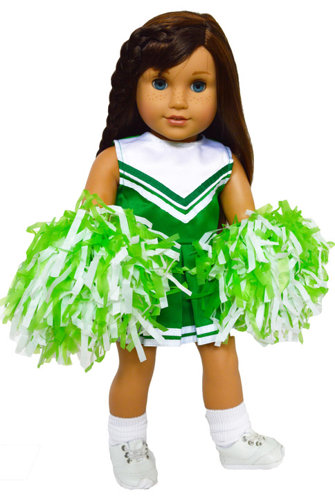 My Brittany's Green and White Cheerleader Outfit for American Girl Dolls- 18 Inch Doll Clothes