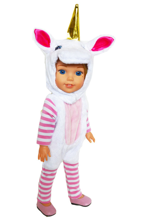 My Brittany's Unicorn Dress Up for Wellie Wisher Dolls, Glitter Girl Dolls and Hearts for Hearts Dolls- 14 Inch Doll Clothes