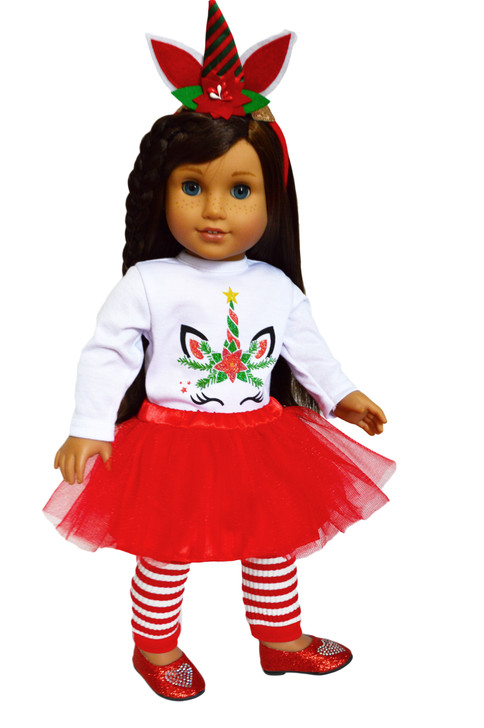 My Brittany's  Christmas Unicorn Outfit for American Girl Dolls-18 Inch Doll Clothes