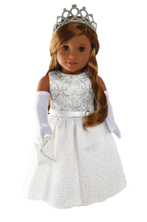 Crystal Princess Gown fits American Girl Dolls