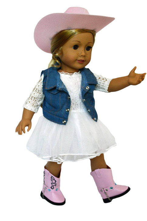 Western Flair Outfit for American Girl Dolls, Our Generation Dolls and My Life as Dolls