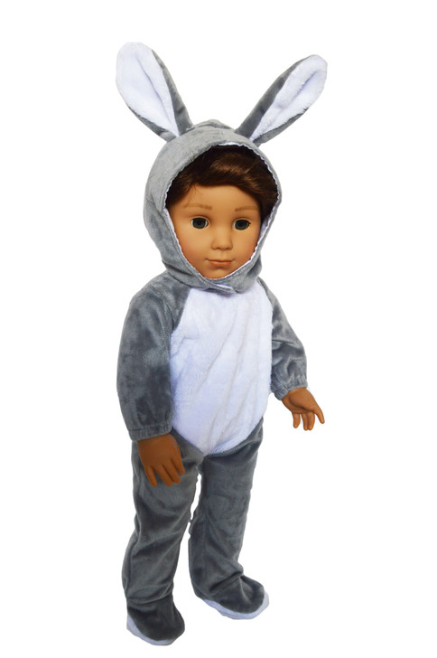 Grey Bunny Costume for American Girl Dolls