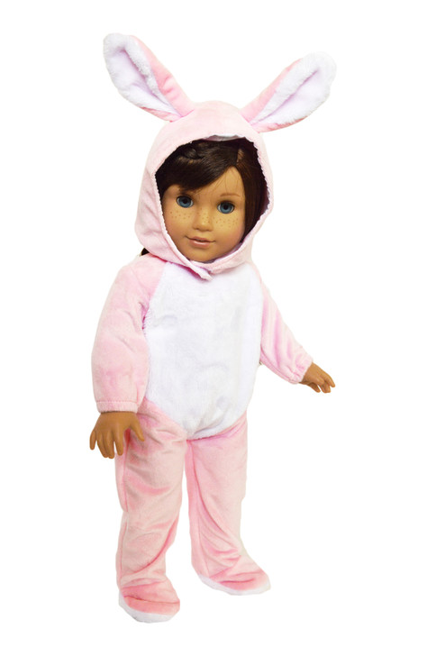 Pink Bunny Costume for American Girl Dolls, Our Generation Dolls and My Life as Dolls