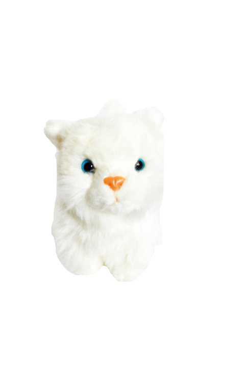 8 Inch White Persian Kitten for American Girl Dolls