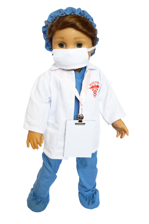 Blue Inspiring Doctor Set For American Girl Dolls