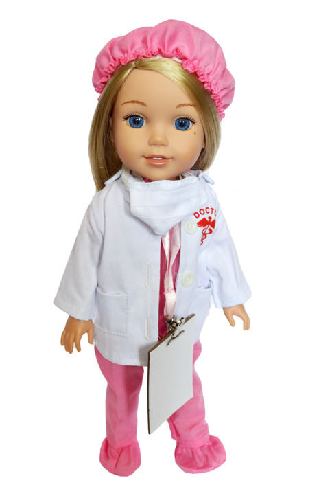 Inspiring doctors set fits 14 inch dolls