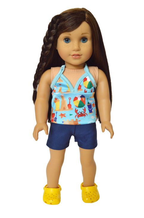At the Beach Tankini Fits American Girl Dolls