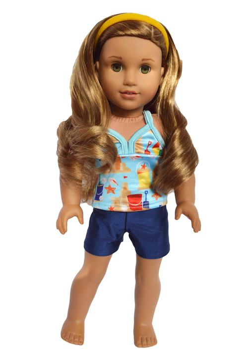 At the Beach Tankini Fits American Girl Dolls