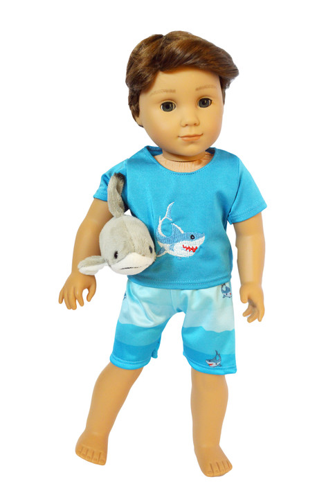 My Brittany's Shark Swimsuit and Shark Plushie for 18 Inch Boy Dolls