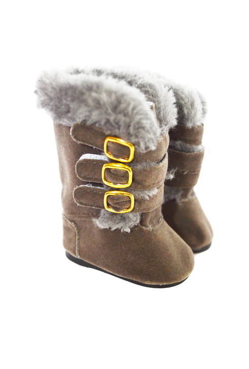 Coming Soon Modern Grey Fur Boots Fits American Girl Dolls and My Life as Dolls